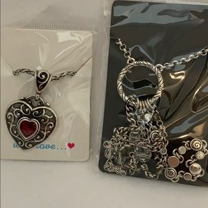 Brighton necklace lot of two.